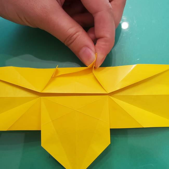 折り紙のセミ 立体的で難しい折り方・作り方(54)