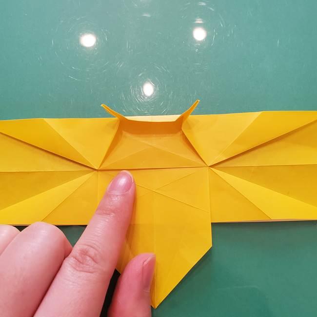 折り紙のセミ 立体的で難しい折り方・作り方(55)
