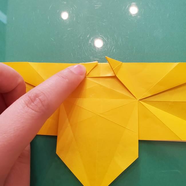 折り紙のセミ 立体的で難しい折り方・作り方(57)