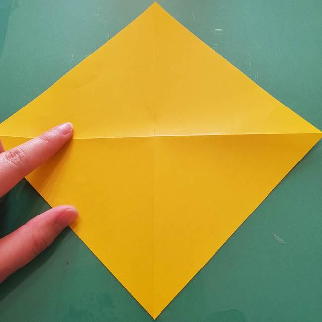 折り紙のセミ 立体的で難しい折り方・作り方(6)