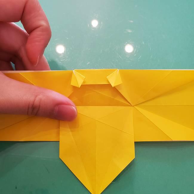折り紙のセミ 立体的で難しい折り方・作り方(60)