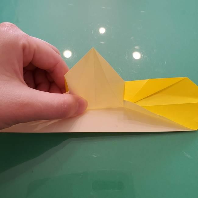 折り紙のセミ 立体的で難しい折り方・作り方(62)