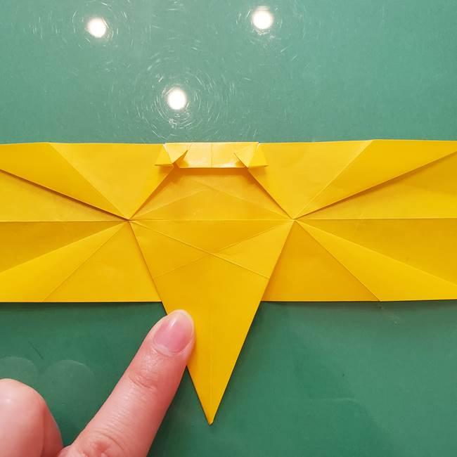 折り紙のセミ 立体的で難しい折り方・作り方(65)