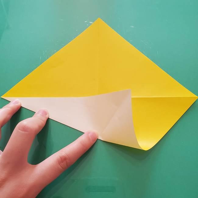 折り紙のセミ 立体的で難しい折り方・作り方(7)