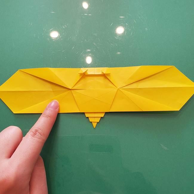 折り紙のセミ 立体的で難しい折り方・作り方(73)