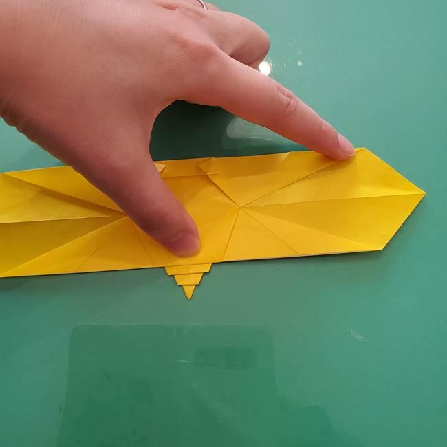 折り紙のセミ 立体的で難しい折り方・作り方(74)