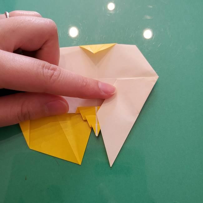 折り紙のセミ 立体的で難しい折り方・作り方(79)