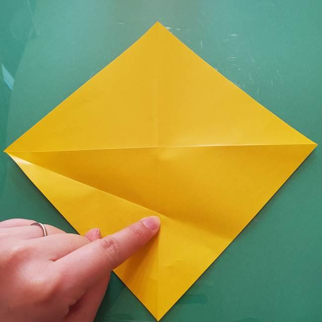 折り紙のセミ 立体的で難しい折り方・作り方(8)