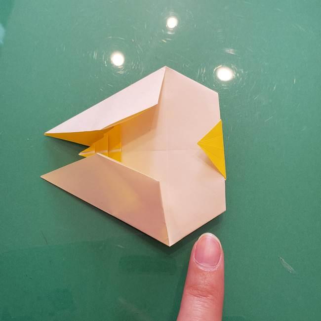 折り紙のセミ 立体的で難しい折り方・作り方(81)