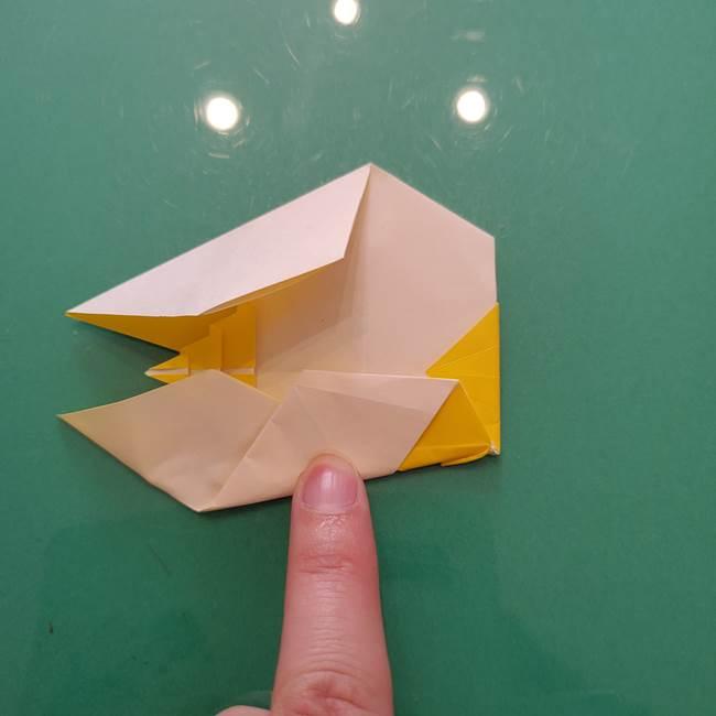 折り紙のセミ 立体的で難しい折り方・作り方(82)