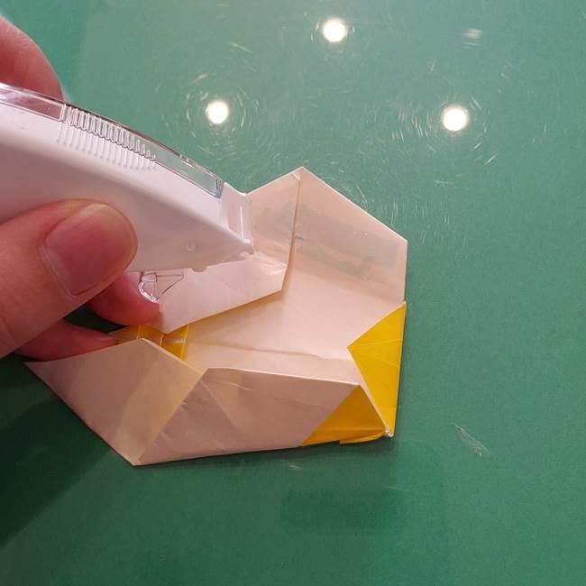 折り紙のセミ 立体的で難しい折り方・作り方(84)