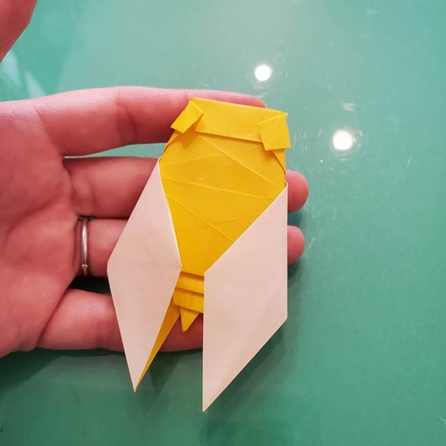 折り紙のセミ 立体的で難しい折り方・作り方(85)