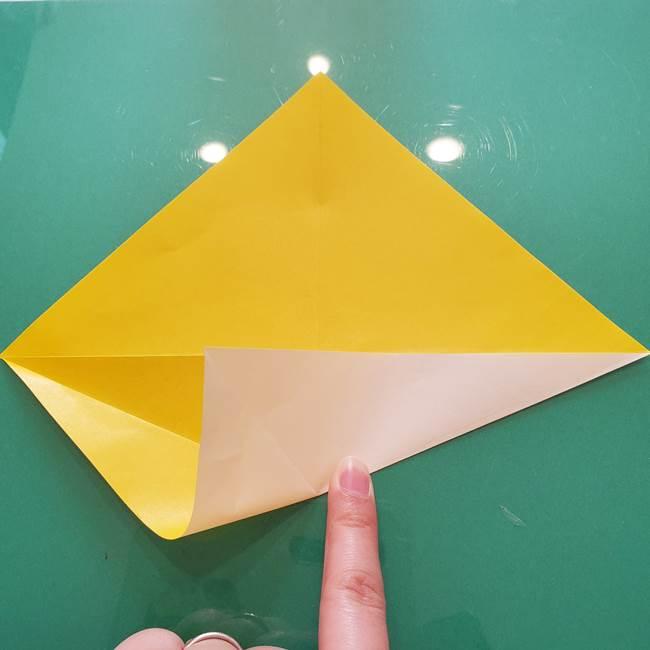 折り紙のセミ 立体的で難しい折り方・作り方(9)