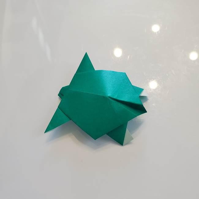 折り紙の亀は簡単なのにリアル!子どもも作れる♪