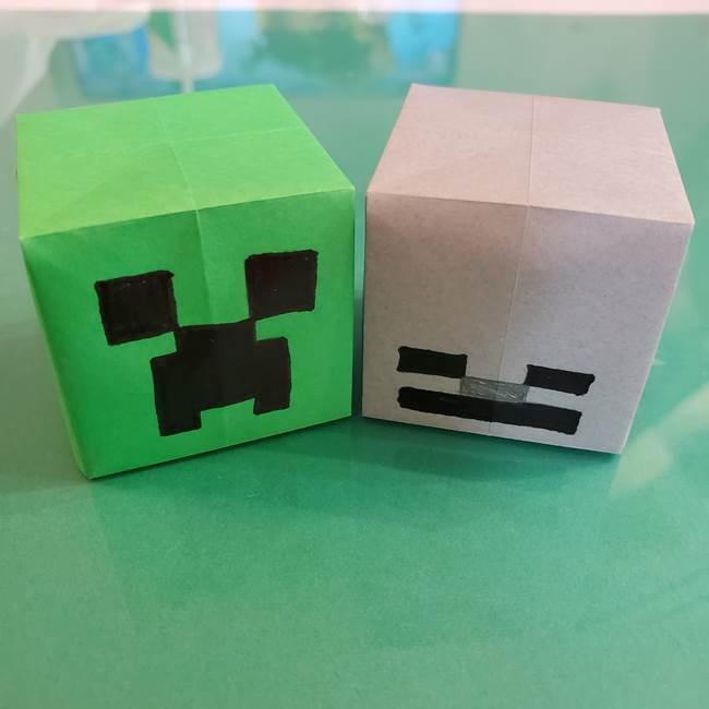 折り紙マイクラのクリーパーの折り方★スケルトンも作れる作り方を紹介