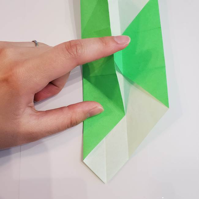 折り紙 クリーバーの折り方作り方(24)
