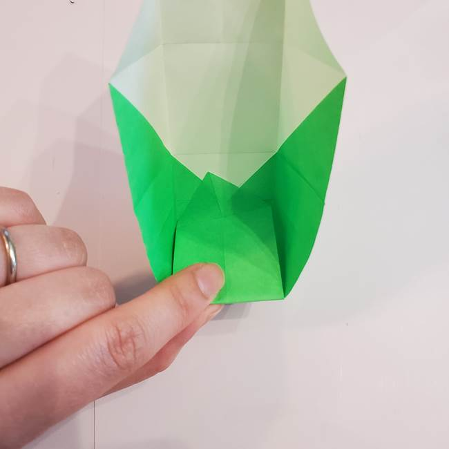 折り紙 クリーバーの折り方作り方(28)