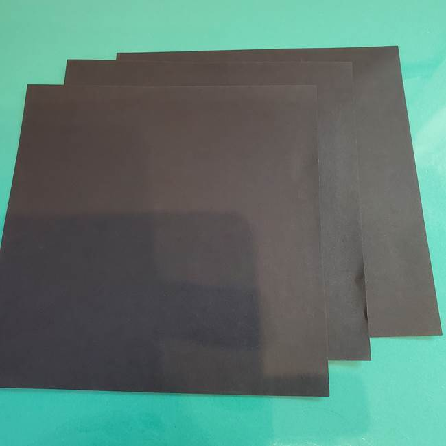 折り紙 マイクラのウィザー*用意するもの1