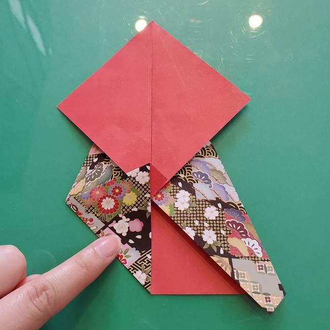 折り紙 縁起物の亀(立体)の折り方作り方(10)