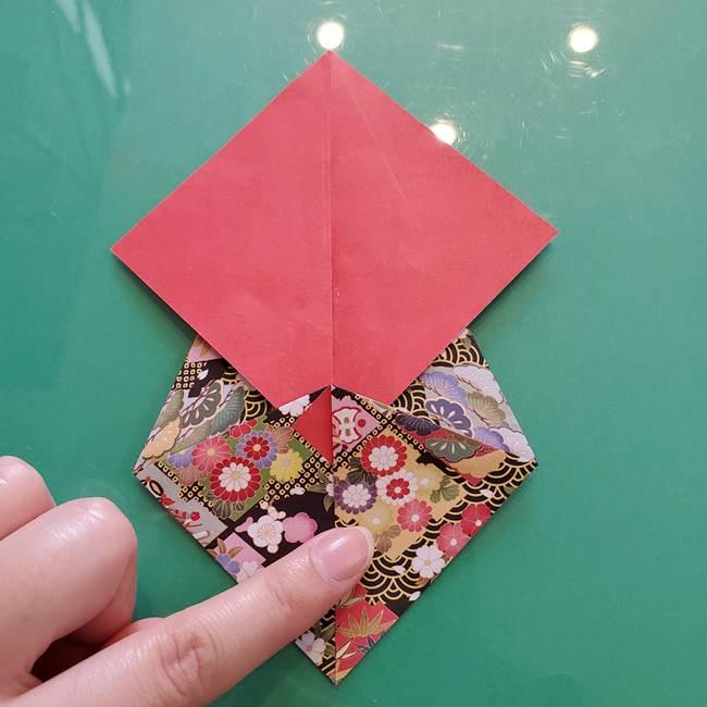 折り紙 縁起物の亀(立体)の折り方作り方(11)
