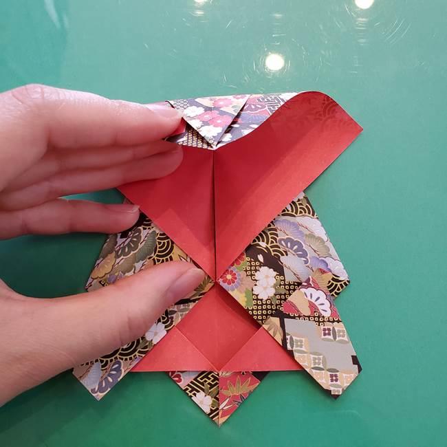 折り紙 縁起物の亀(立体)の折り方作り方(14)