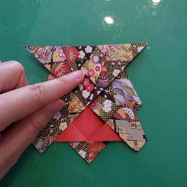 折り紙 縁起物の亀(立体)の折り方作り方(15)