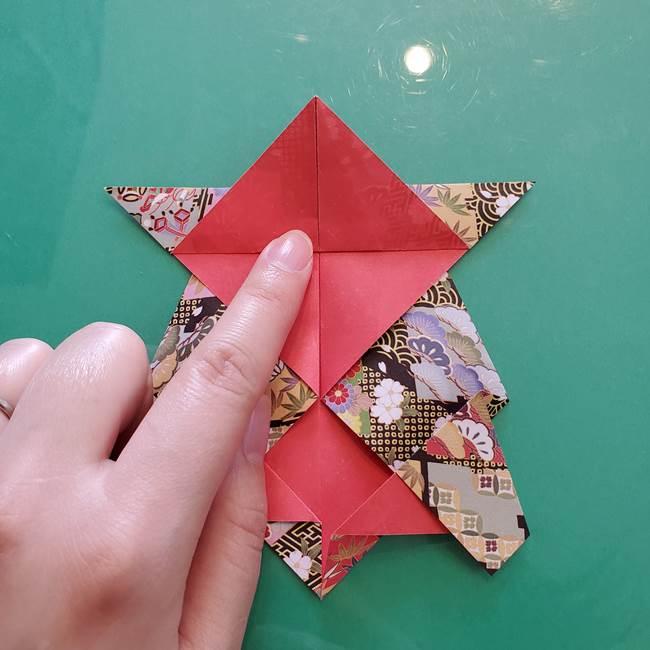 折り紙 縁起物の亀(立体)の折り方作り方(16)