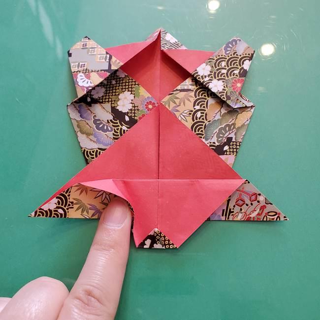 折り紙 縁起物の亀(立体)の折り方作り方(19)