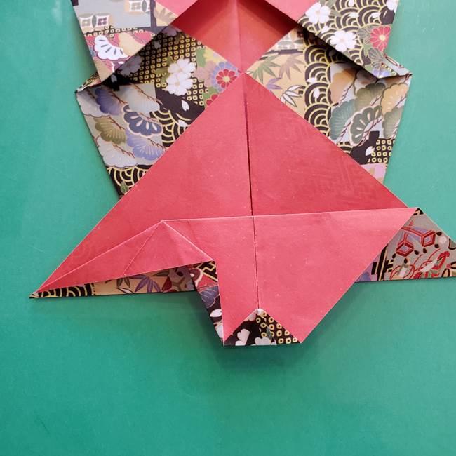折り紙 縁起物の亀(立体)の折り方作り方(20)