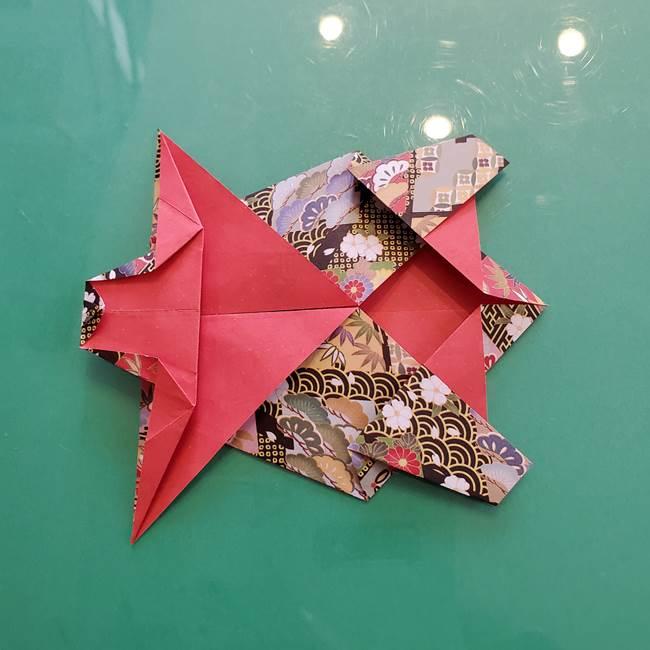 折り紙 縁起物の亀(立体)の折り方作り方(22)