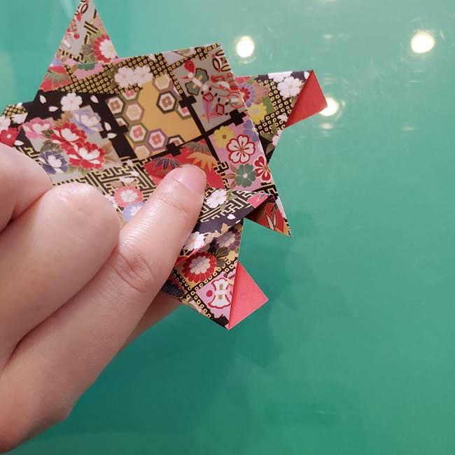 折り紙 縁起物の亀(立体)の折り方作り方(25)