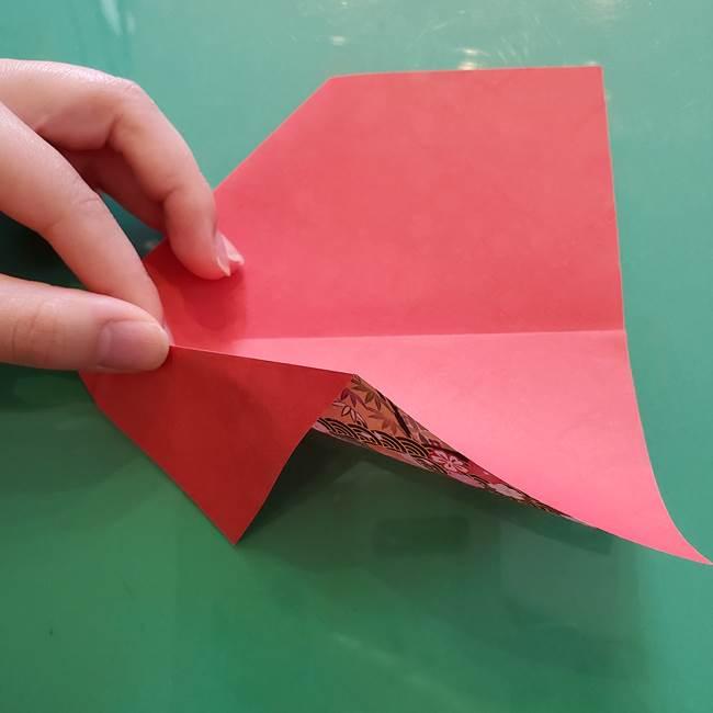 折り紙 縁起物の亀(立体)の折り方作り方(6)