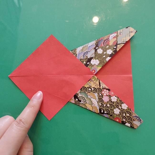 折り紙 縁起物の亀(立体)の折り方作り方(8)