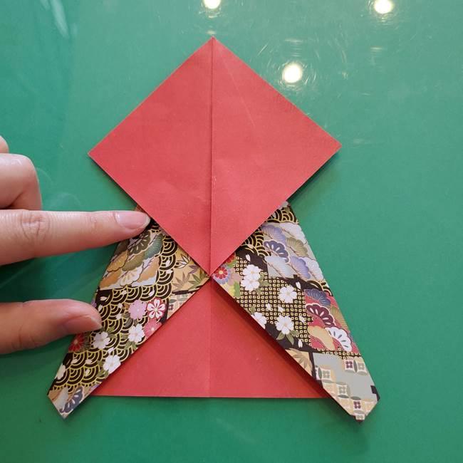 折り紙 縁起物の亀(立体)の折り方作り方(9)