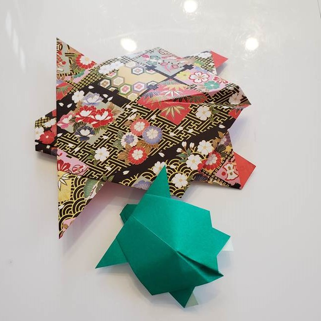 折り紙 縁起物の亀(立体)は簡単なのにリアル!長寿のお祝いにも【折り方作り方】