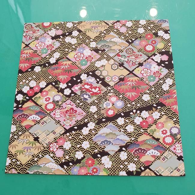 折り紙1枚で縁起物の亀(立体)は作れる!