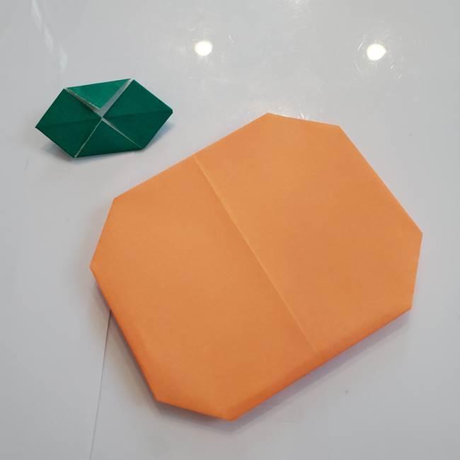 柿の葉っぱの折り紙 折り方作り方(平面)(13)