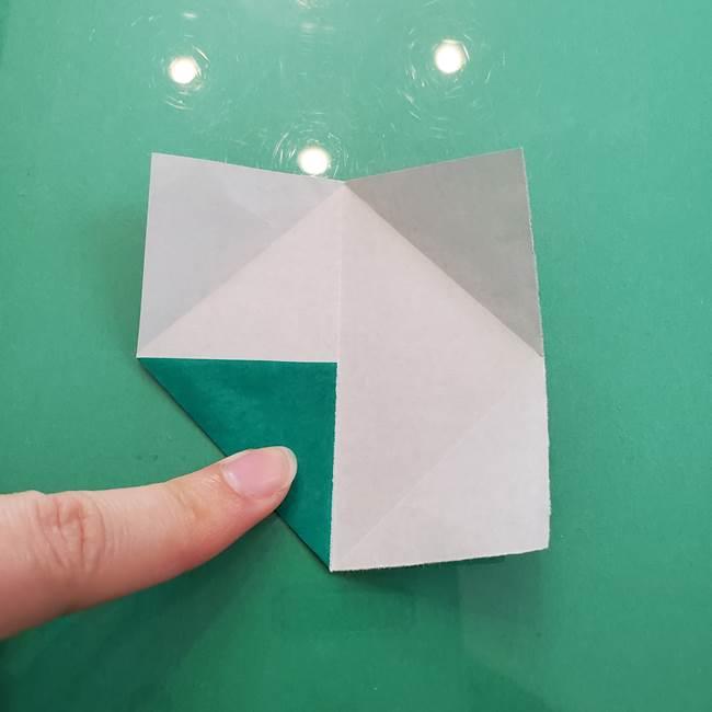 柿の葉っぱの折り紙 折り方作り方(平面)(4)
