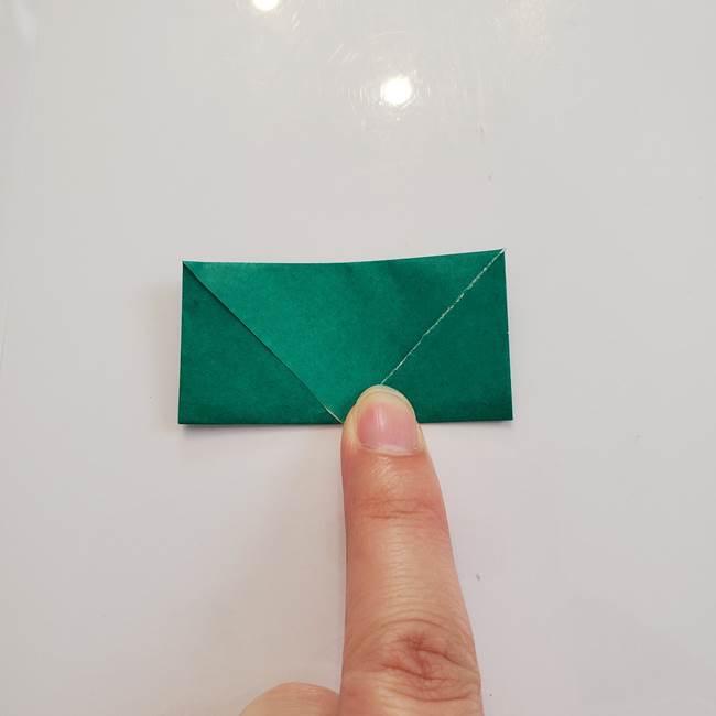 柿の葉っぱの折り紙 折り方作り方(平面)(6)