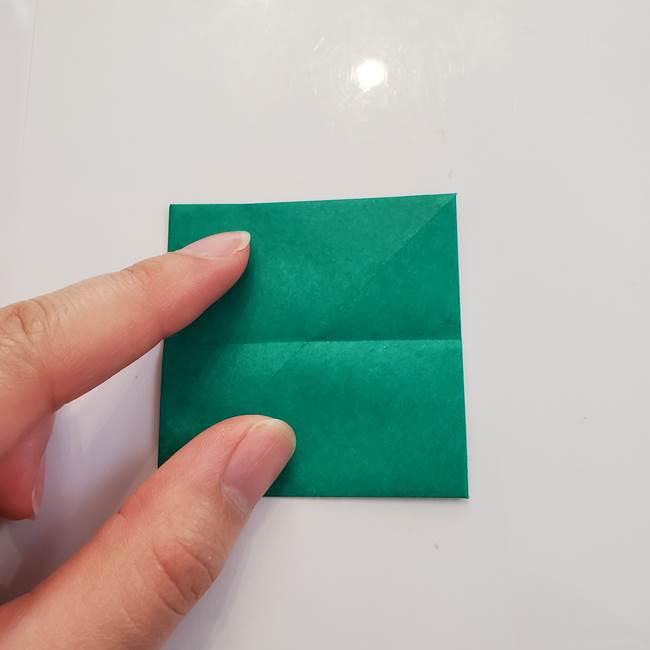 柿の葉っぱの折り紙 折り方作り方(平面)(7)