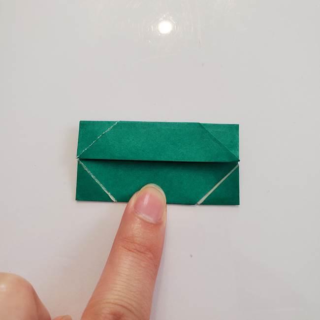 柿の葉っぱの折り紙 折り方作り方(平面)(8)
