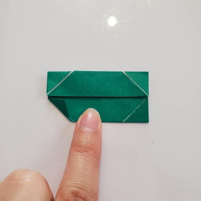 柿の葉っぱの折り紙 折り方作り方(平面)(9)