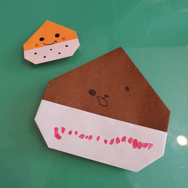 栗の折り紙を3歳児と手作り♪顔を描いて年少~年長の楽しい保育に☆