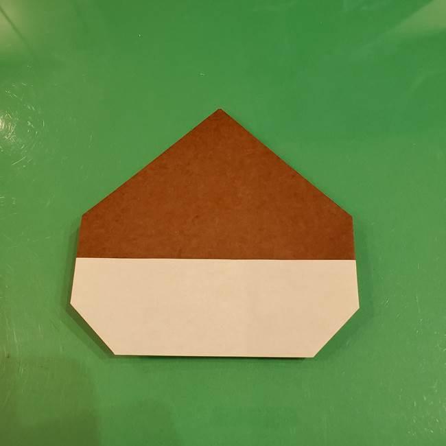 栗の折り紙 子どもでも簡単な折り方作り方(10)
