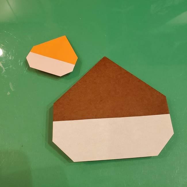 栗の折り紙 子どもでも簡単な折り方作り方(11)