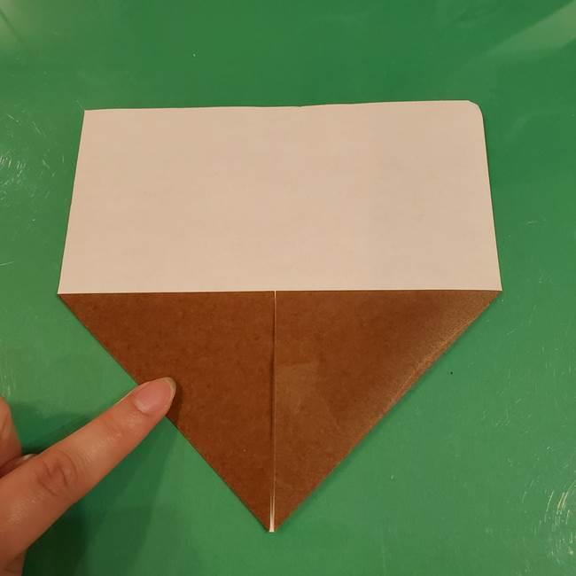 栗の折り紙 子どもでも簡単な折り方作り方(4)