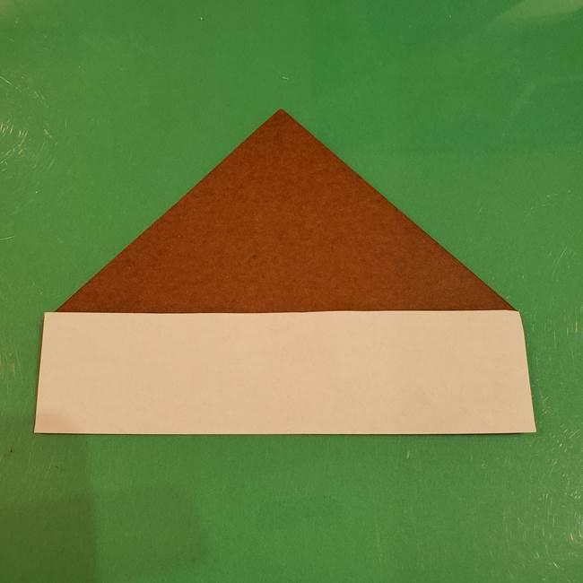栗の折り紙 子どもでも簡単な折り方作り方(6)