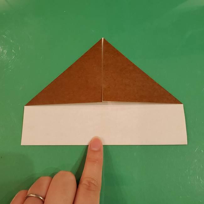 栗の折り紙 子どもでも簡単な折り方作り方(7)