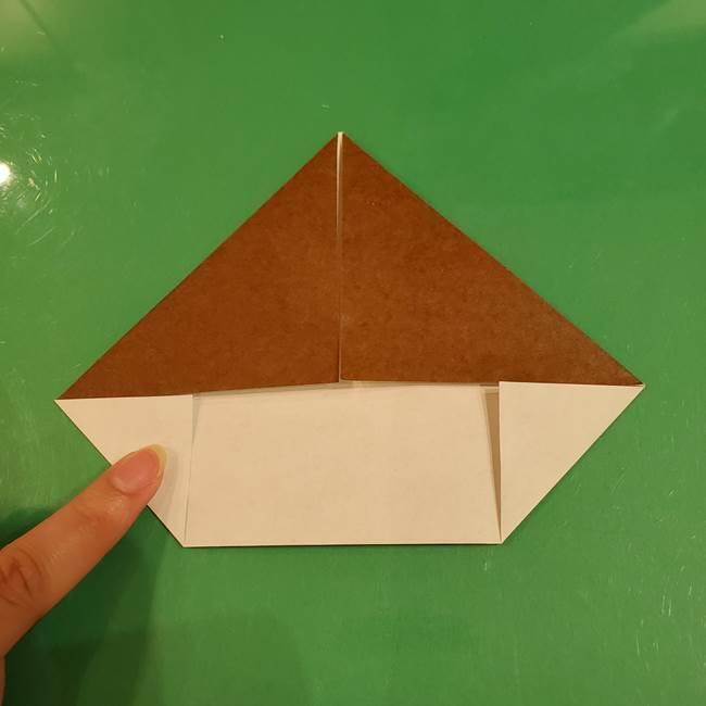 栗の折り紙 子どもでも簡単な折り方作り方(8)