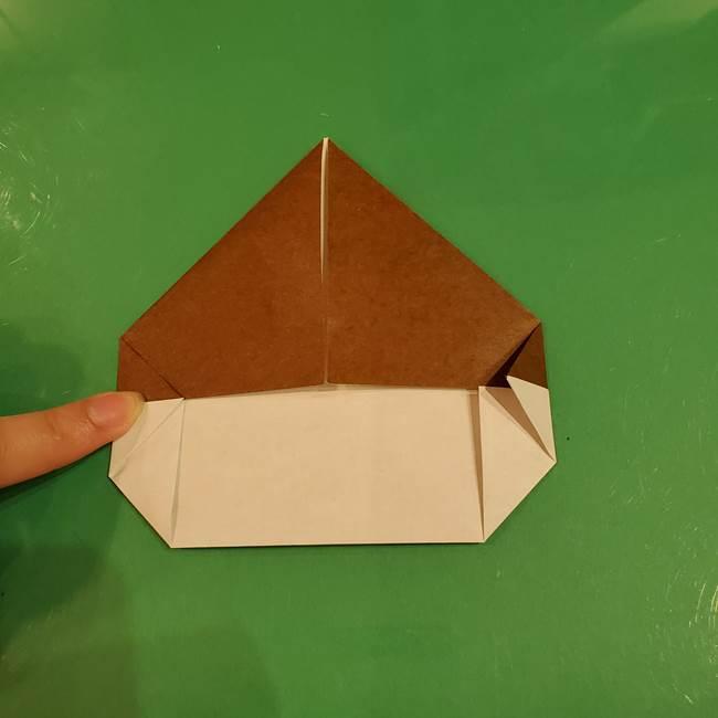 栗の折り紙 子どもでも簡単な折り方作り方(9)